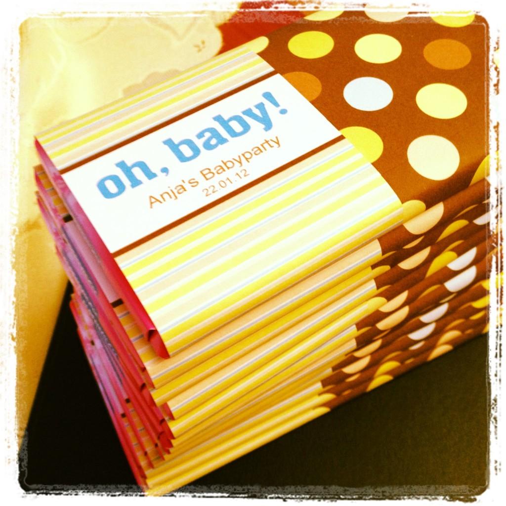 Babyparty Schokolade